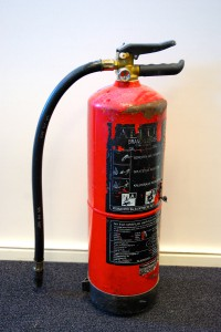 Afgekeurde schuim brandblussers klasse ab