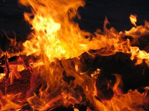 Brandstadia-vlammen