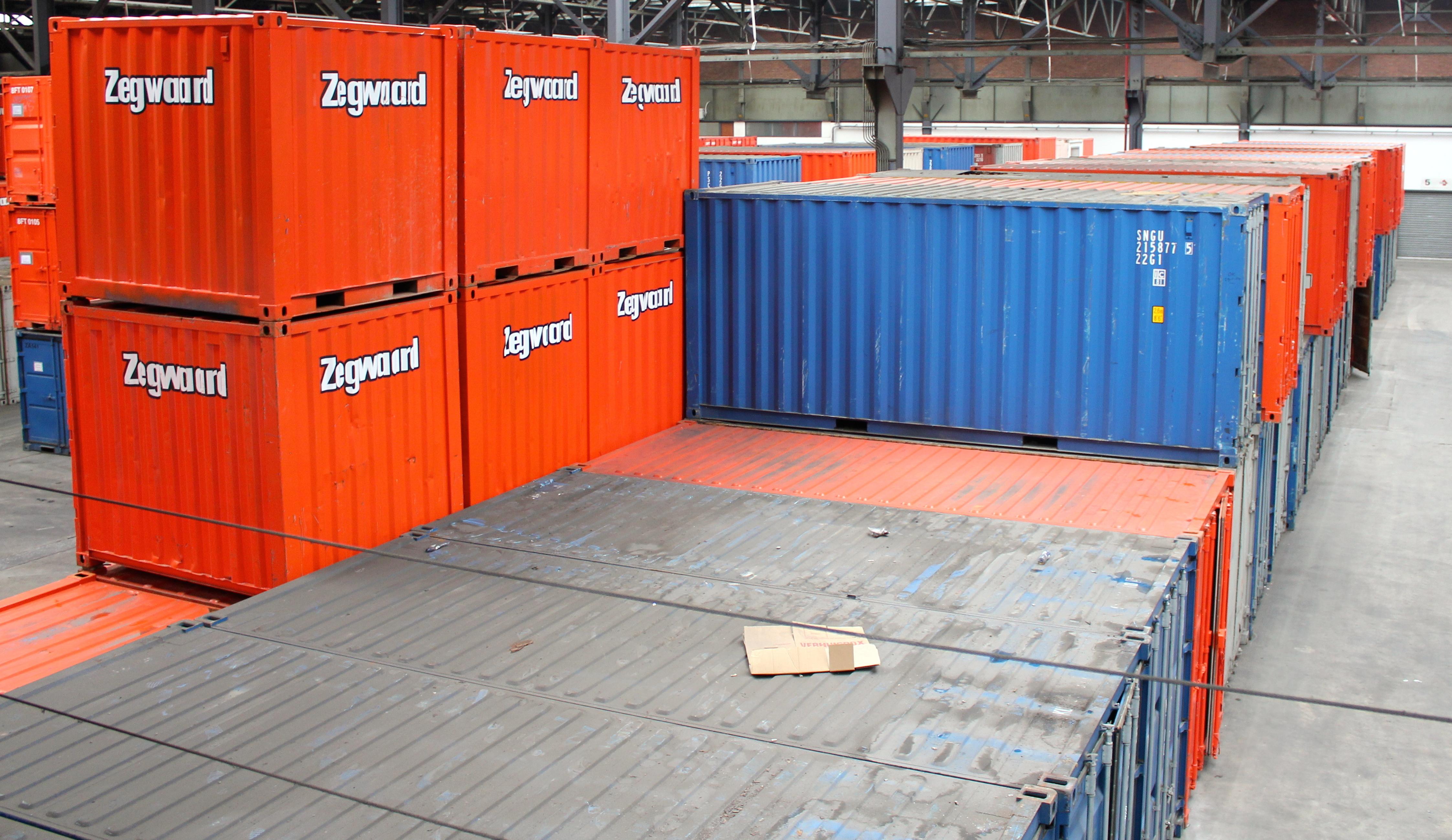 Ontgassen van containers