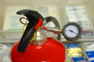 Druk meten brandblusser