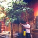 Brandwerend impregneren kunstbomen
