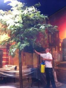Brandwerend impregneren kunstboom