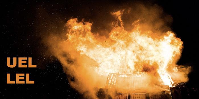 Explosiegrens, de UEL en de LEL