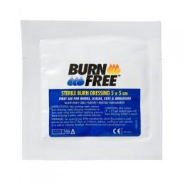 Burnfree Foamkompressen; wanneer er geen water voor handen is.