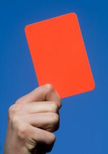 Brandwacht met een rode kaart