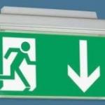 vluchtroute pictogram